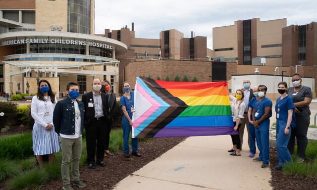 Flag Raising at UW Medicine